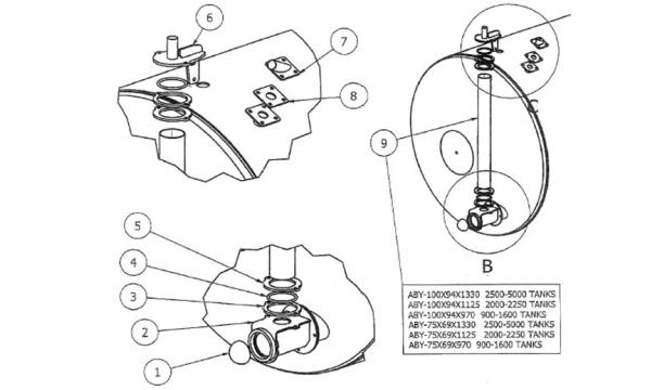 VACCUM TANK PARTS - FRONT LEVEL INDICATOR