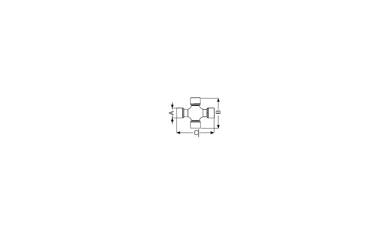T60 Type WAJ PTO Cross Dia:30.2mm L:95.4mm x 101.4mm
