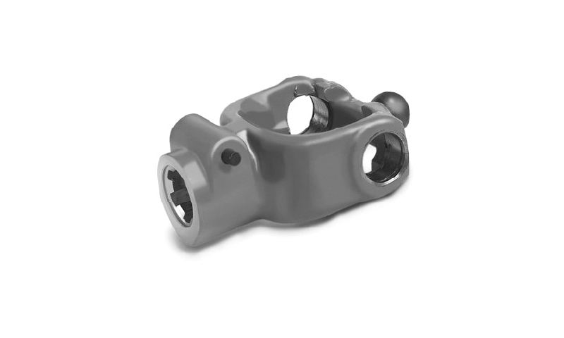 "T60 Type 1 3/8"" 6 Spline Wide Angle Collar Type Yoke End"