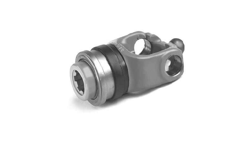 "T60 Type 1 3/8"" 21 Spline Wide Angle Collar Type Yoke End"