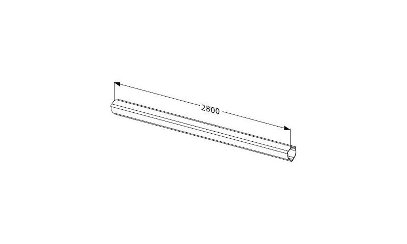 Inner Profile tube T seres T10 L:2800mm