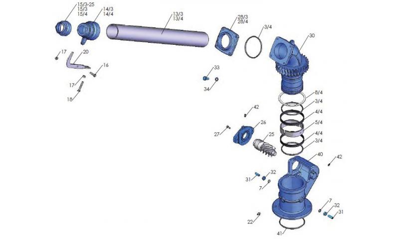 Rain Gun Spiral Gear (Hydraulic)