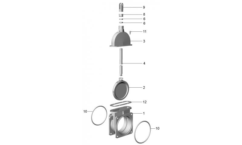 """6"""" Heavy Duty Shutter Housing for ART 4 valve"""
