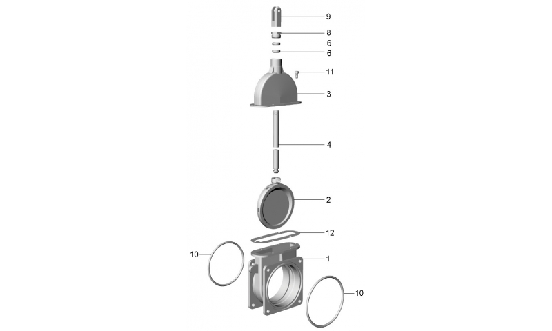 """6"""" Gasket for ART 4 valve"""
