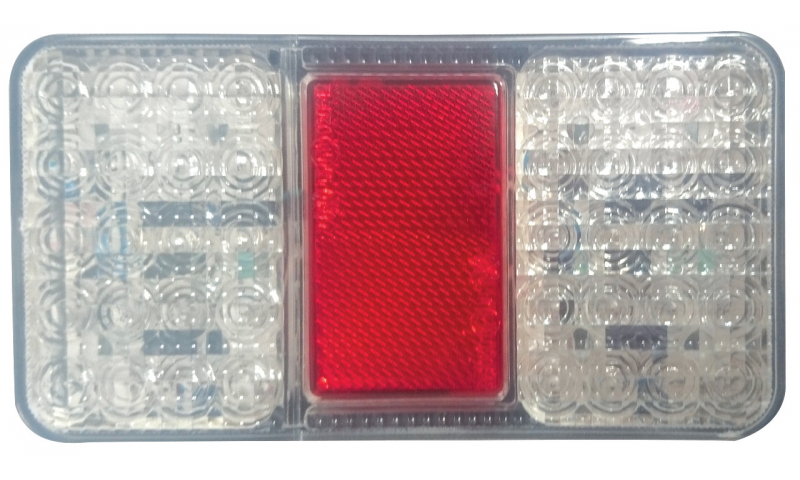 Red/White LED Lamp 150mm x 80mm x 26mm
