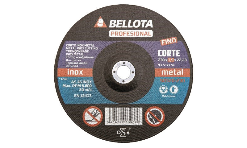 """Professional Extra Thin Cutting Disc 230mm (9"""") 1.6mm"""