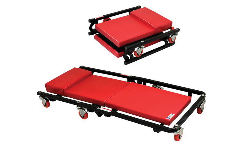 "Red Plastic Work Crawler Bed - 40"" Long"