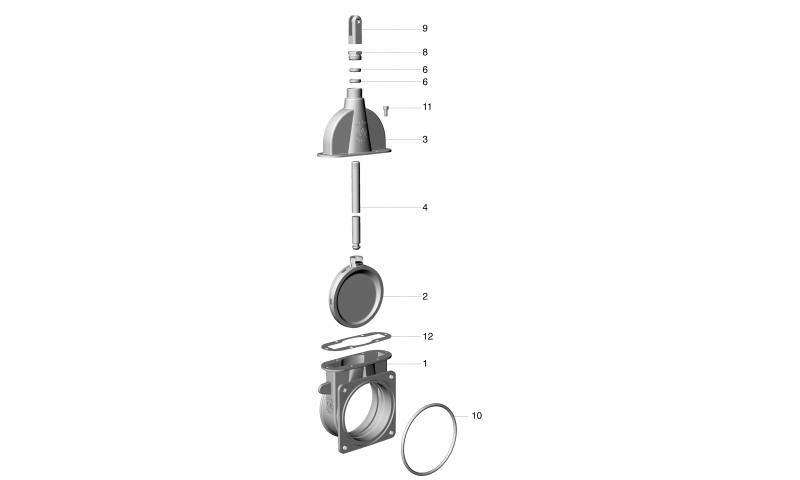 """6"""" Light Duty Brass Shutter ART 7 valve"""