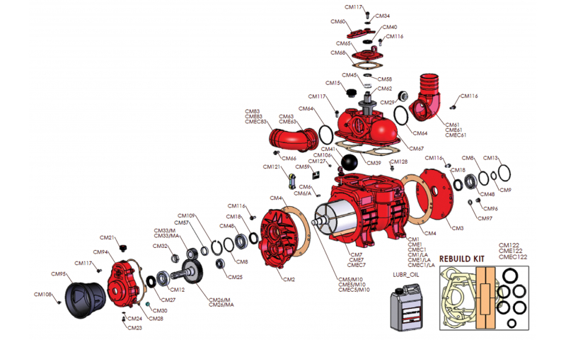 MEC 11000 Pump Rotor Housing
