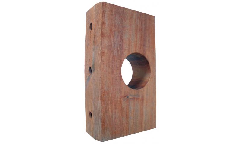 Timber Bearing Block 228mm x 125mm x 60mm 63mm Dia