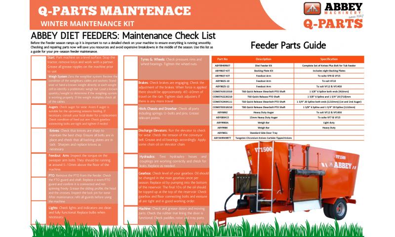 abbey-feeder-maintenance-check-list