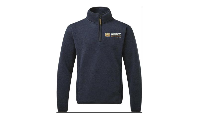 Abbey Navy Fleece pullover size L